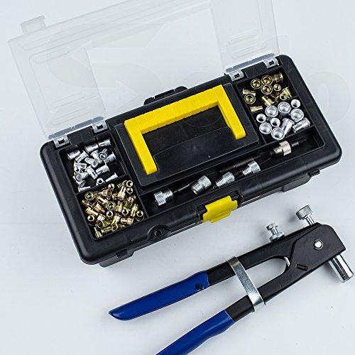464 pieces Blind Rivet Nut Kit Set, Riveter Tool, Rivet Nut Gun