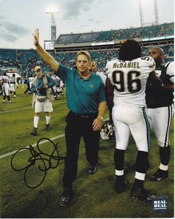 Jack Del Rio Signed - Jack Del Rio Signed - Autographed Jacksonville Jaguars 8x10 inch Photo - Guaranteed to pass PSA or JSA
