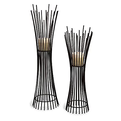Metal Candle Holder Duo - Set of 2