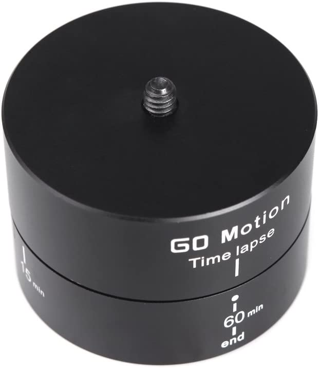 Andoer 60 Minutes Time Lapse Stabilizer Tripod Head 360 Degrees Panning Rotating for Gopro DSLR