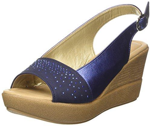 Inblu VP000013, Sandalias de Cuña Mujer Azul (Jeans)
