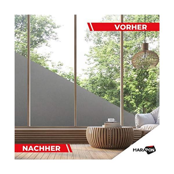 MARAPON ® Sichtschutzfolie Fenster in Anthrazit [45x200 cm] inkl. eBook mit Profitipps - Fensterfolie selbsthaftend…