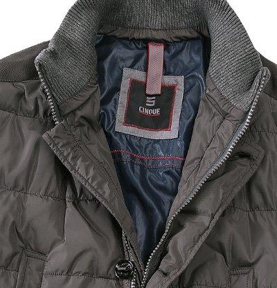 CINQUE Herren Jacke Jack Mikrofaser modisches Langarmoberteil Unifarben, Größe: 48, Farbe: Grau