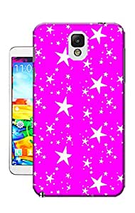 Pinellia Shop The Stars On Pink Background TPU Hard Phone Case for Samsung Galaxy Note 3