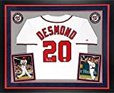 Ian Desmond Washington Nationals Autographed Deluxe Framed Majestic Home Jersey - Fanatics Authentic Certified