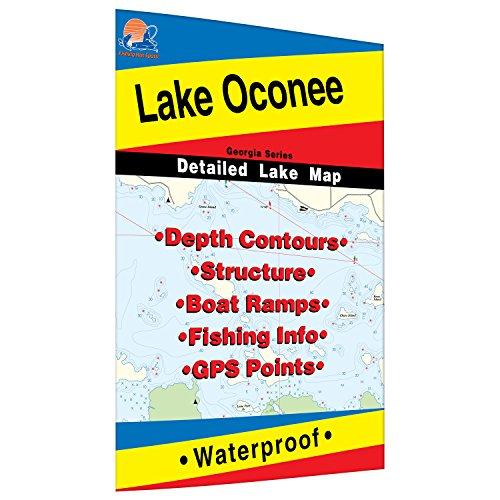 Oconee Fishing Map, Lake by Fishing Hot Spots