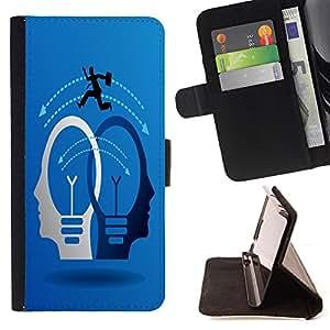 King Case - FOR LG OPTIMUS L90 - known in bad weather - Prima caja de la PU billetera de cuero con ranuras para tarjetas, efectivo Compartimiento desmontable y correa para la mu?eca