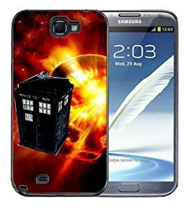 Pink Ladoo? For Case HTC One M7 Cover Black Case -Tardis Dr Who StyleCall Police Box Tardis in Sun Space