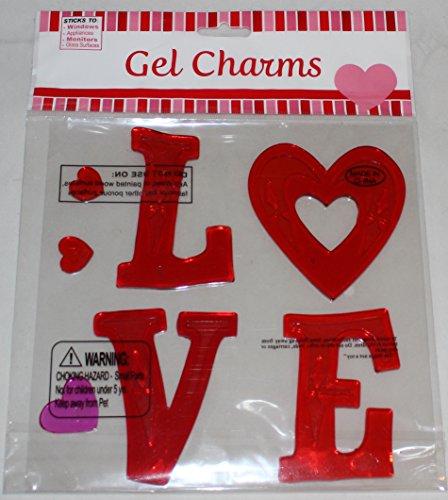 L-O-V-E Love Valentine's Day Gel Window Clings