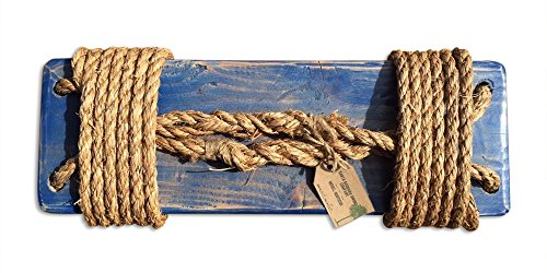 Rustic Tree Swing. 12 Ft of Natural Rope & Easy Hanging Hardware. For Adults or Kids.
