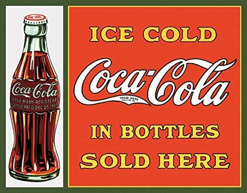 """Coca-Cola Ice Cold Sold Here Vintage Metal Sign Bar Garage Man Cave 16/""""X13/"""" NEW"""