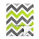 berlando - Signature Edition - Chevron Baby Blanket , Green and Gray, 100% Polyester, #1 Ranked in Minky Valour Baby Blankets, Best Unisex Blanket for Baby Boys and Baby Girls,