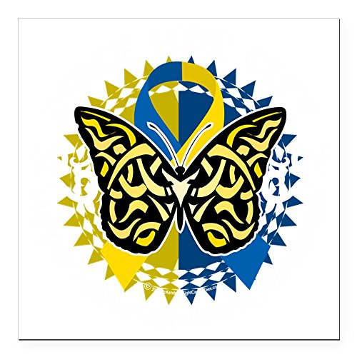 CafePress - Down-Syndrome-Butterfly- Square Car Magnet 3