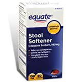 Stool Softener 100 mg 120ct (Two 60ct bottles) by