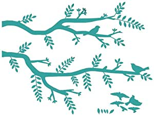 Wall Hugs Birds On A Branch Wall Decal, Turquoise ...