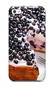 4552054K19395443 For Iphone Protective Case, High Quality For Iphone 5c Blueberries Cake Skin Case Cover