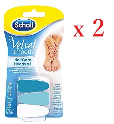 Scholl Velvet Smooth Nail Care System Refills x 2Packs