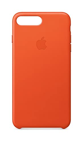 finest selection 6a5cd 53fd0 Apple Leather Case (for iPhone 8 Plus/iPhone 7 Plus) - Bright Orange