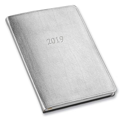 2019 Gallery Leather Desk Weekly Planner Metallic Silver 8