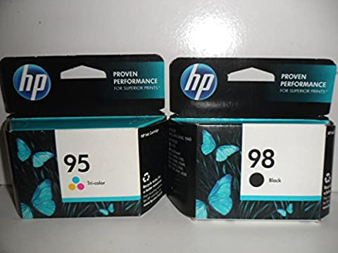 HP 98 Black & 95 Tri-Color Ink SEALED IN RETAIL BOX ONLY (95 98 Hp Ink Cartridge)