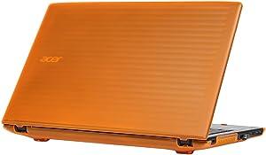 "mCover Hard Shell Case for 15.6"" Acer Aspire E 15 E5-575 / E5-576 Series Windows Laptop (Orange)"