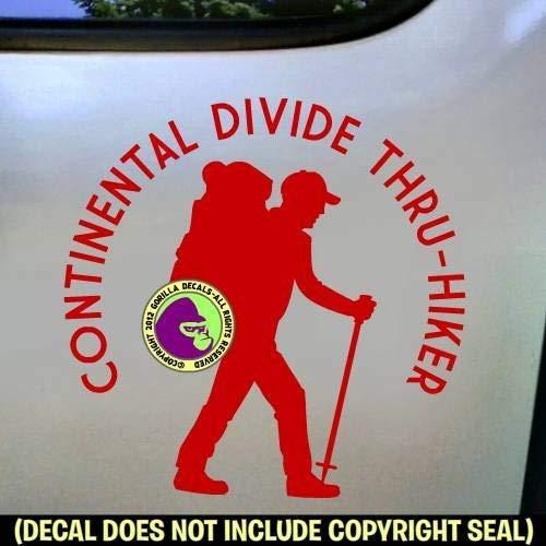CONTINENTAL TRAIL THRU HIKER Vinyl Decal Sticker C