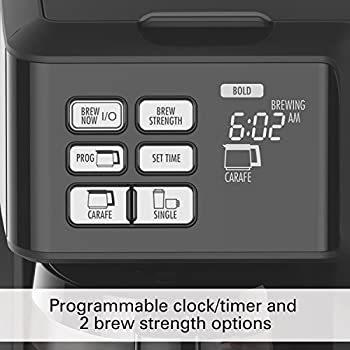 Hamilton Beach (49976) Coffee Maker, Single Serve & Full Coffee Pot, For Use With K Cups Or Ground Coffee, Programmable, Flexbrew 3