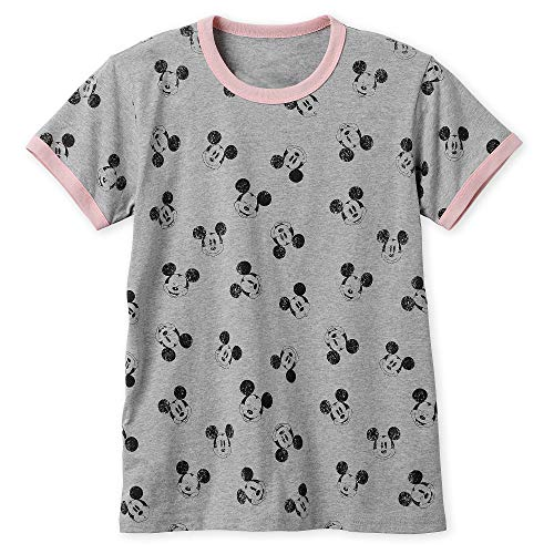 - Disney Mickey Mouse Allover Ringer T-Shirt for Women