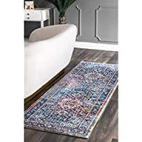 nuLOOM Pink Persian Vintage Raylene Runner, 2 Feet 8 Inches by 8 Feet