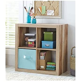 Attirant Better Homes And Gardens Bookshelf Square Storage Cabinet 4 Cube Organizer  (Weathered)
