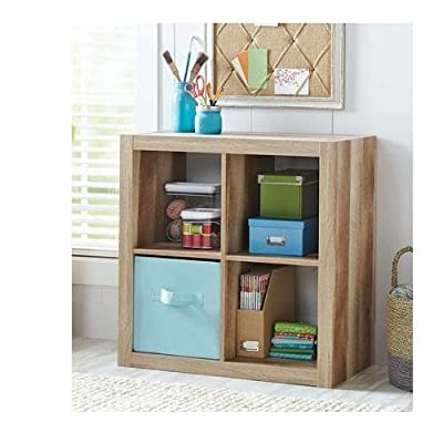 Better Homes and Gardens Bookshelf Square Storage Cabinet 4-Cube Organizer (Weathered) - Versatile Creates multiple storage solutions Material: MDF and particle board - living-room-furniture, living-room, bookcases-bookshelves - 51Ggzgc0tjL. SS400  -