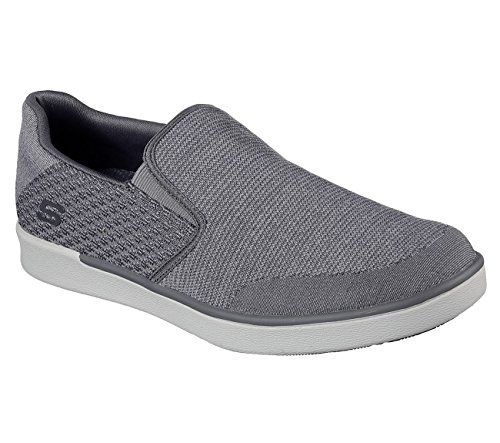 Skechers Scarpe Uomo Memory Foam Slip On Comfort Loafer Casual Soft Mesh 9.5 Us