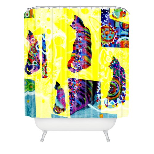 DENY Designs Randi Antonsen Cats 1 Shower Curtain, 69 x 72