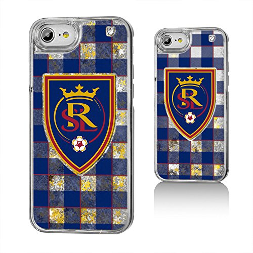 Keyscaper MLS Real Salt Lake Plaid Glitter Case for iPhone 8/7/6, Clear by Keyscaper