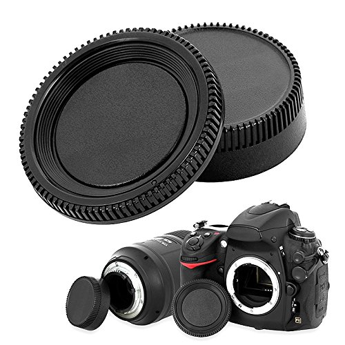 eForCity® Camera Body Cap and Rear Lens Cover Cap Compatible with Nikon