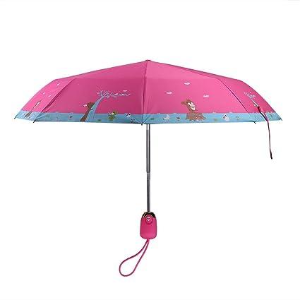 d3d687067b9a QCHOMEE Cute Squirrel Bear Children Umbrella Automatic Folding cartoon  umbrella