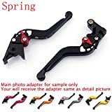 Areyourshop Spring Brake Clutch Levers For BMW F800GS (08-15) F800R (09-15) F800GT F700GS (13-15) F800ST (06-15) F800S (06-14) F650GS (08-12) Gray