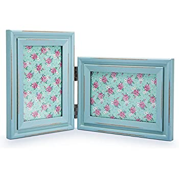 Amazon.com - 4x6 Turquoise Blue Collage Distressed Wood Frame - Made ...