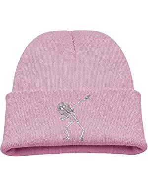 Dabbing Skeleton Egyptian Pharaoh DAB Kid's Hats Winter Funny Soft Knit Beanie Cap, Unisex