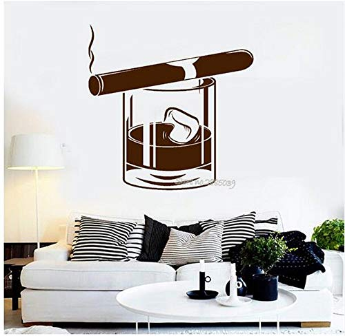 - Ffdidy Newest Creative Vinyl Wall Decals Whiskey Glass Cigar Alcohol Bar Men's Style Bedroom Wall Stickers Art Rooms Home Decor 42X42Cm