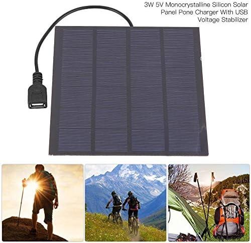 Dgtrhted 3W 5V Monokristalline Silizium Solar Panel Pone-Ladegerät mit USB-Spannungsstabilisator