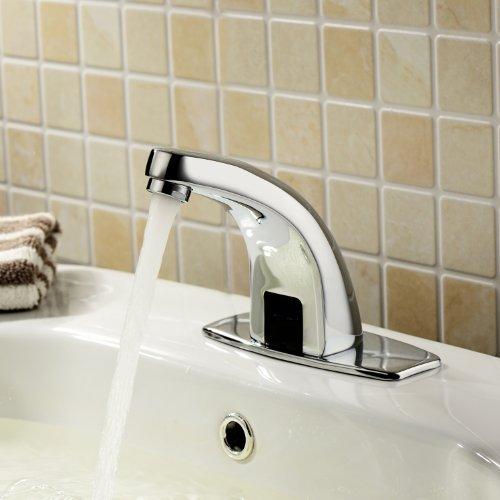 Lightinthebox Deck Mount Solid Brass Auto Sensor Bathroom Sink Faucet with Automatic Sensor Chrome Bath Tub Faucet Unique Designer Vanity Plumbing Fixtures Roman Tub Faucets Lavatory Glacier Bay Faucets hot sale 2017