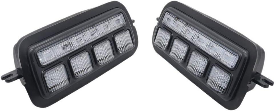 Lada Led /éclairage diurne avec clignotants Lumi/ère Drl voiture Pi/èces de rechange phares Yunjingchenman 2pcs Compatible avec Niva 4X4 1995