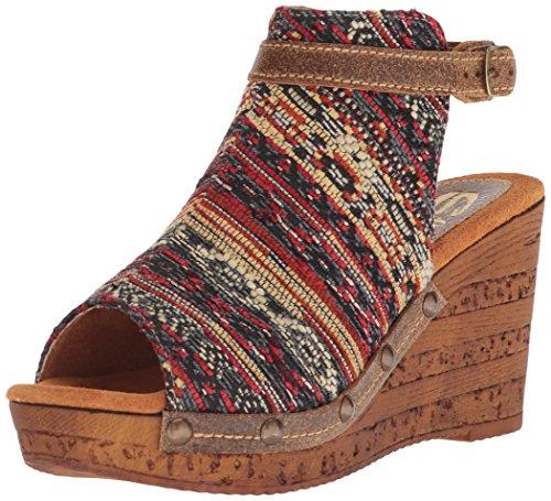 Sbicca WoMen Sabari Wedge Sandal Brown/Multi