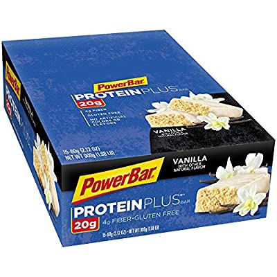 PowerBar Protein Plus Bars, Vanilla, 20g Protein, 2.12-Ounce Bars (Pack of 15) from PowerBar
