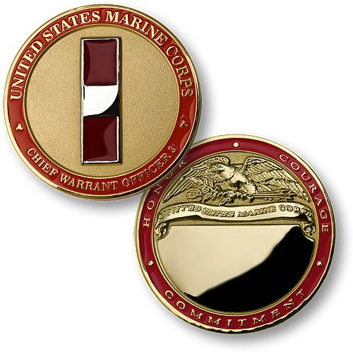 U.S. Marines Chief Warrant Officer 3 Engravable Challenge Coin (Officer Insignia Usmc)