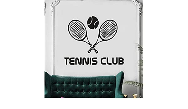 Amazon.com: Quotes Wall Stickers Removable Vinyl Art Decal Sticker Tennis Club Racquet Sport Home Interior Decor Tennis Sports for Boys Room Nursery Kids ...