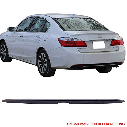 Pre-painted Trunk Spoiler Fits 2013-2016 Honda Accord |Factory Style Painted #B588P Obsidian Blue Pear ABS Trunk Boot Lip Spoiler Wing Deck Lid Other Color Available By IKON MOTORSPORTS | 2014 2015