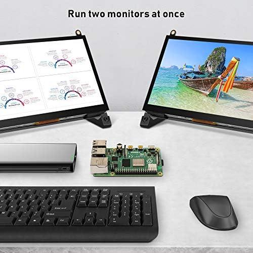 Touchscreen Monitor, EVICIV 7 Inch Portable USB Monitor Raspberry Pi Touch Screen IPS Display Computer Monitor 1024X600 16:9 Game Monitor for Pi 4/3 /2/ Zero/B Raspbian Ubuntu Xbox /PS4 Mac 51Gh0JWdxsL
