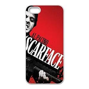Al Pacino Scarface 002 funda iPhone 4 4S caja funda del teléfono celular del teléfono celular blanco cubierta de la caja funda EOKXLKNBC15125